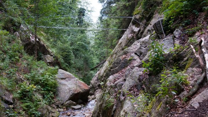 Lanové mosty na ferratě HZS