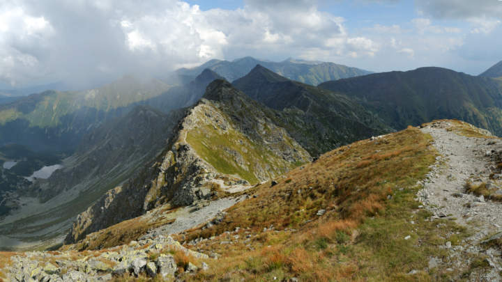 Hrubá kopa - výhled východním směrem na Tri kopy, Plačlivé, Ostrý Roháč