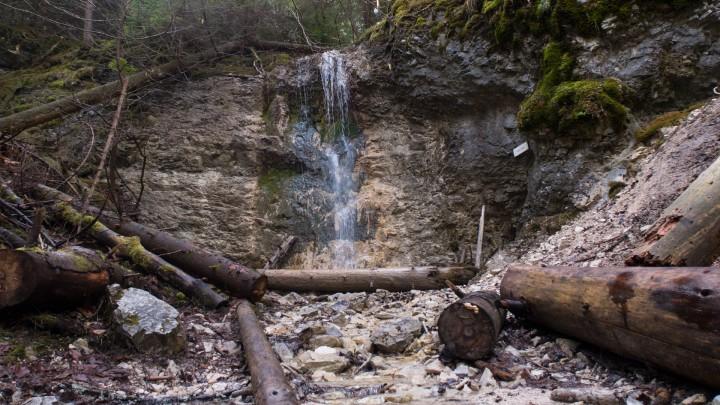 Kláštorská roklina - Machový vodopád