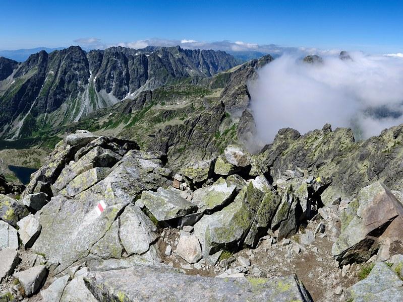 Rysy - výhled z vrcholu