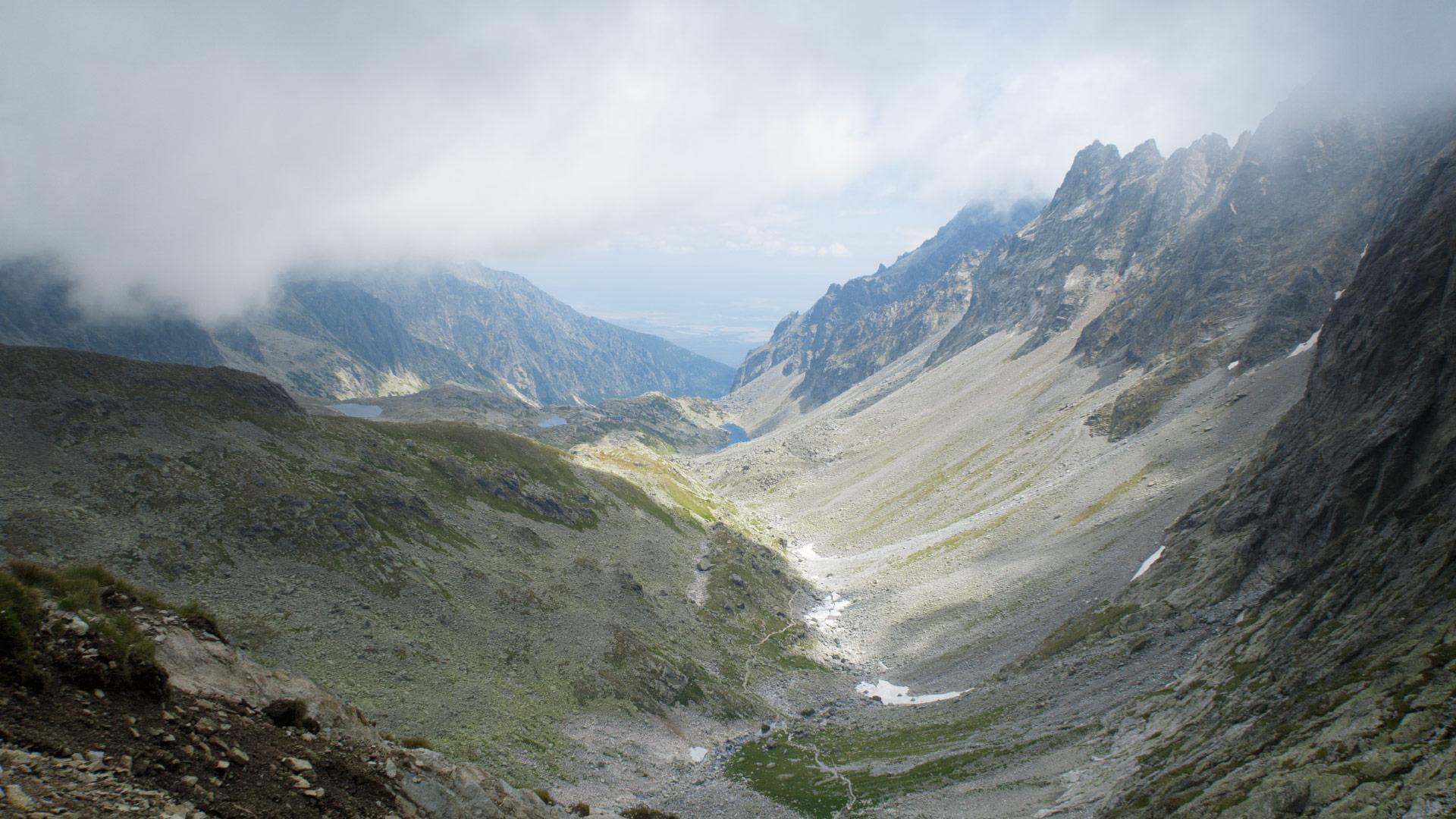 Výhled ze sedla Prielom do Velké Studené doliny