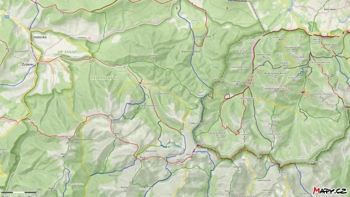Západní Tatry, Roháče: mapa