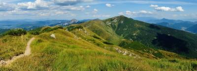 Z Malého Kriváně je nádherný výhled na Velký Kriváň a oba Rozsutce. V dálce můžete spatřit také Velký Choč a Západní Tatry.