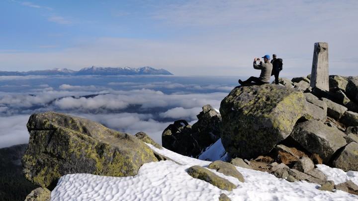Pohoda na Ďumbieru s výhledem na Vysoké Tatry